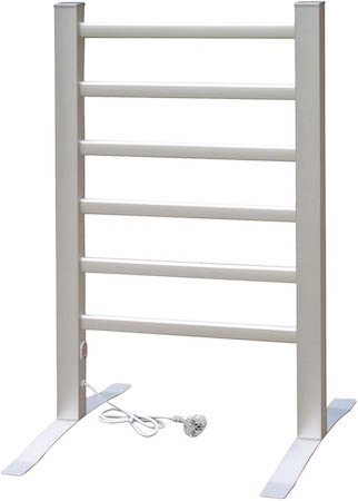 Radiador eléctrico y toallero (2 en 1, fijación en el suelo o la pared)
