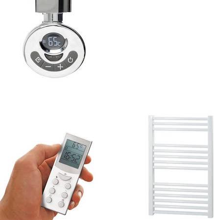 Radiador toallero eléctrico recto blanco