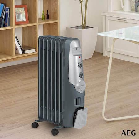_AEG RA 5520 - Radiador de aceite, 1500 W, 7 elementos, termostato