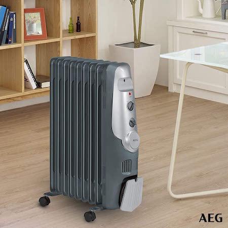 AEG RA 5521 - Radiador de aceite, 2000 W, 9 elementos