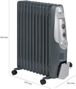 AEG RA 5522 - Radiador de aceite, 2200 W, 11 elementos, termostato