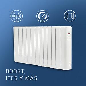Con la función BOOST el emisor se activa durante 2 horas a máxima potencia.