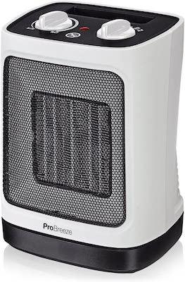 Pro Breeze Mini Calefactor Cerámico 2000W. Oscilación Automática