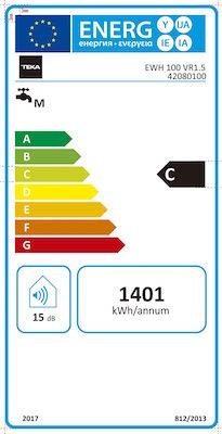 Teka 42080100 Termo Eléctrico | 1500 W | 100 L | Blanco | Clase de eficiencia energética C