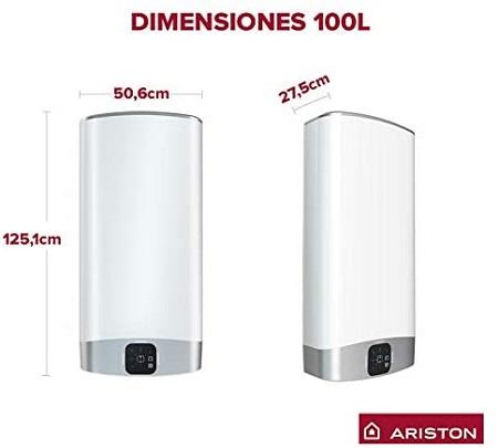 Ariston Velis Wifi tamaño